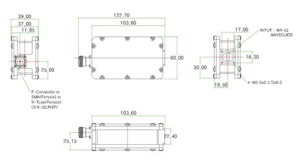 Norsat 9000 Series 9000HX-O3B-BN Ka-Band Dual-modeLNB