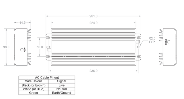 Norsat 300W ATOM Power Supply PS300-AT1-IEC