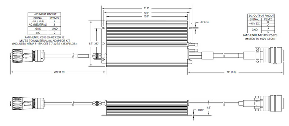 Norsat 600W ATOM Power Supply PS600-AT1-IEC