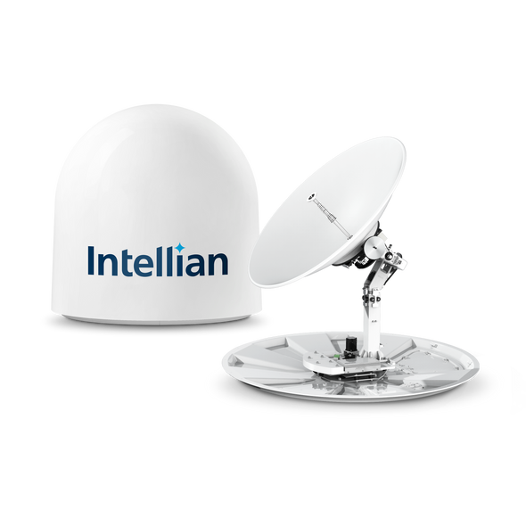 Intellian v130NX with 125cm (49.2inch) Reflector , X-pol and Co-pol, NJRC 8W Extended BUC & PLL LNB