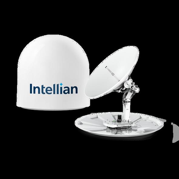 Intellian v130NX with 125cm (49.2inch) Reflector , X-pol and Co-pol, NJRC 16W Extended BUC & PLL LNB