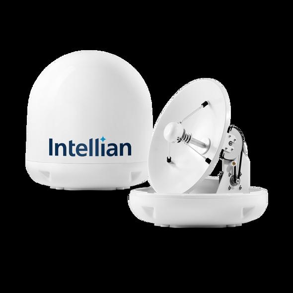 Intellian i4P (Auto Skew) Linear System with 45cm (17.7 inch) Reflector & Universal Quad LNB  - Europe, Sky Mexico, Sky Brazil