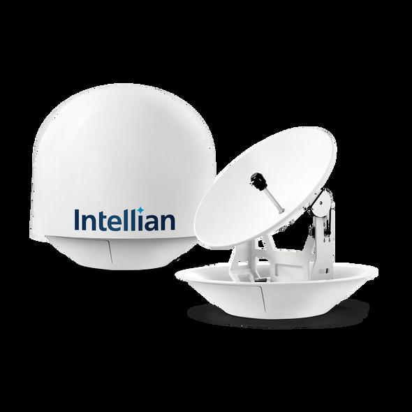 Intellian i9P (Auto Skew) Linear System with 85cm (33.5 inch) Reflector & Universal Quad LNB - Europe, Sky Mexico, Sky Brazil