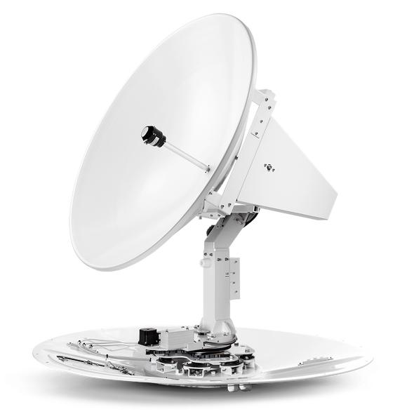 Intellian t100W 3-axis Global System with 105cm (41.3 inch) Reflector & WorldView LNB Gen 2 (v100/GX100 Matching Dome)