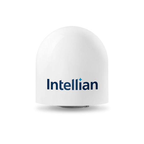 Intellian t100Q 3-axis Global System with 105cm (41.3 inch) Reflector & Universal Quad LNB (v100/GX100 Matching Dome)