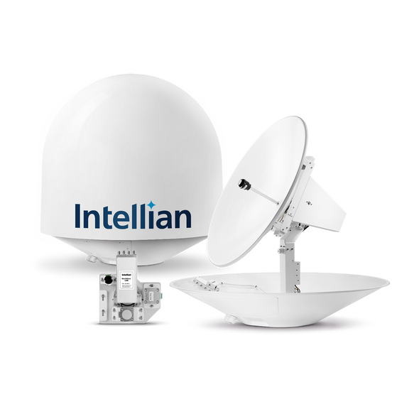 Intellian t130Q 3-axis Global System with 125cm (49.2 inch) Reflector & Universal Quad LNB