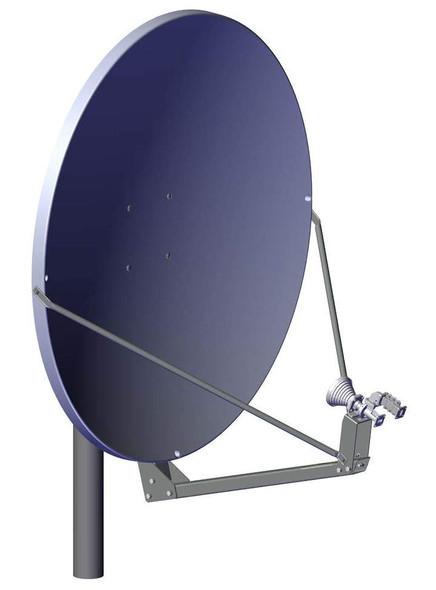 Global Skyware 1.2m Ku Band Receiver Transmitter (Rx/Tx) High Wind Antenna System