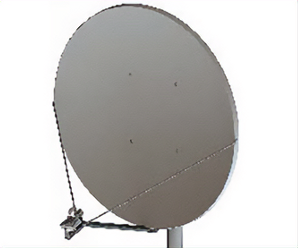 Global Skyware 2.4m Standard Ku Band Receiver Transmitter (Rx/Tx) SFL Class III Antenna System with Mode Matched Feed