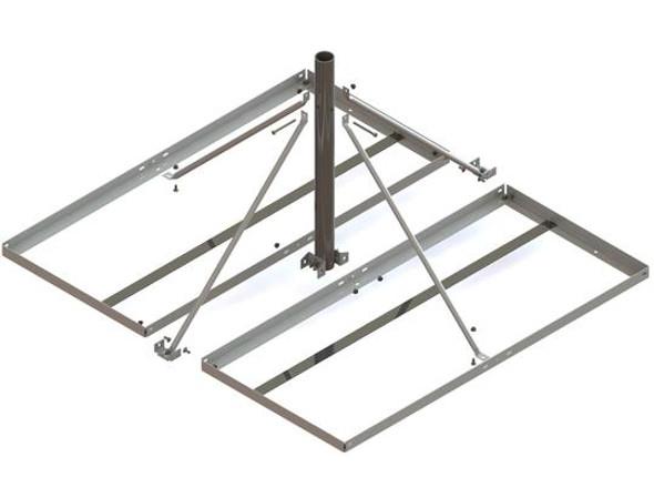 Global Skyware 8001088-01 - 4' x 4' Non-Penetrating Roof Mount - Ka-Band for 74cm-1.2m