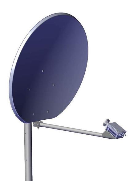 Global Skyware 90cm Ka and Ku Band Receiver Transmitter (RxTx) Antenna System