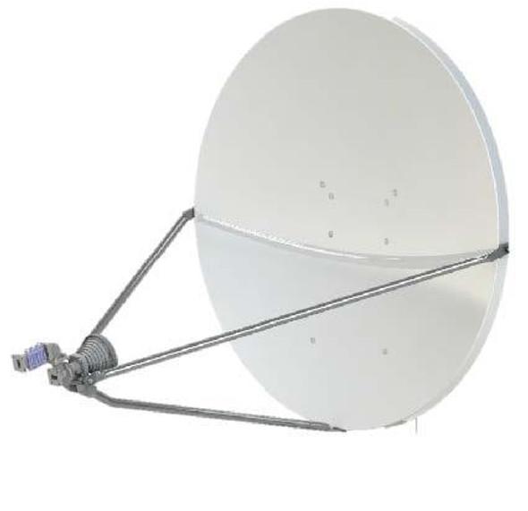 Global Skyware 96cm Ku Band Standard Receiver Transmitter (RxTx) LFL Antenna System - Eutelsat