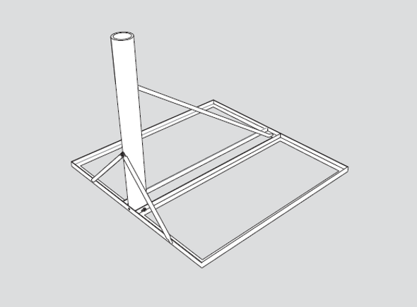 Global Skyware 8000292-01 Non-Penetrating Roof Mount for 75cm, 84Ecm, 90cm and 1m Antenna Systems
