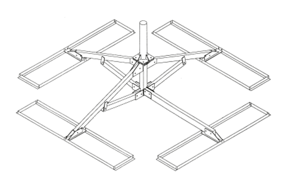 Global Skyware Non-Penetrating Roof Mount for Antennas up to 2.4m