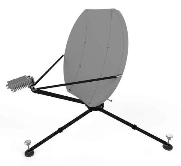 74cm Flyaway Antenna Terminal Raptor Mount Series