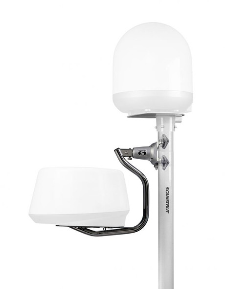 """DLMP1-30F Dual self-levelling pole mount 2.5m / 8' 2"""" for radome and satcom"""