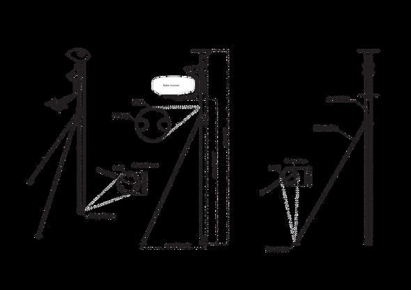 DLMP1-45 Self Levelling Radar - Dual Pole Leveller
