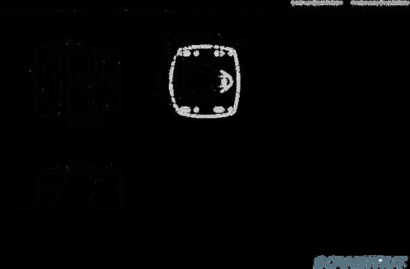 "Black APT-150-01 Aluminium PowerTower aft leaning 150mm / 6"" for radomes"