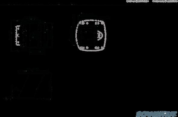 "Black APT-250-01 Aluminium PowerTower aft leaning 250mm / 10"" for radomes"