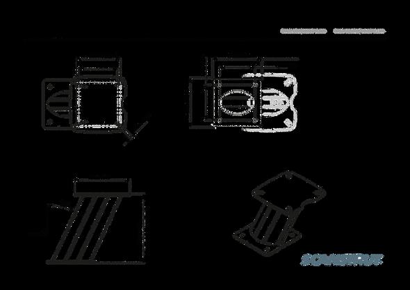 "APT-250-01 Aluminium PowerTower aft leaning 250mm / 10"" for Furuno radomes"