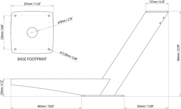 Modular Dual PowerTower strut for Open Array and satcom or camera