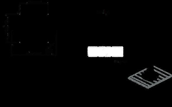 "SC2-1-45 Deck mounted Satcom pole kit 1.0m / 39"" for 45cm satcom"