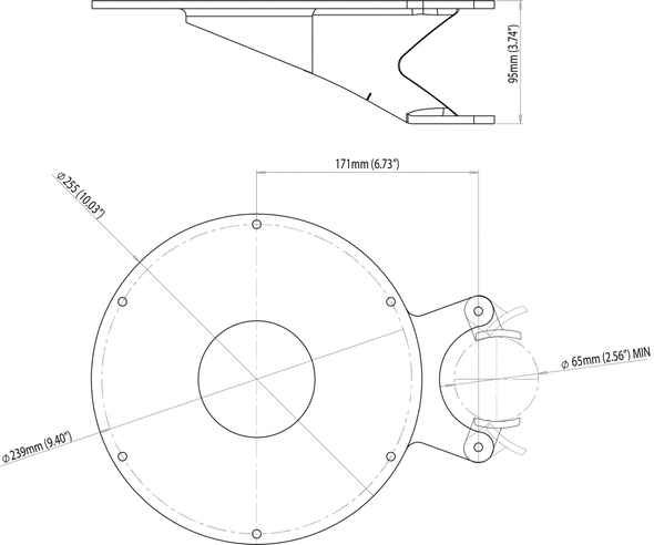 CAM-MM-03 Camera mast mount Flir M300