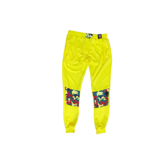 These yellow joggers are made from a durable Speedo material that lasts 20x longer than many fabrics. The material also has great shape retention, and is resistant to fade, pill, and shrinking.