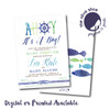 Ahoy It's A Boy // Baby Shower Invitation