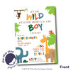 Wild Boy // Baby Shower Invitation