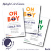 Oh Boy // Baby Shower Invitation