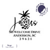 Happy Pineapple Custom Address Stamp