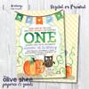 Little Pumpkin // Birthday Party Invitation