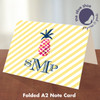 Folded Note Cards // Pink Pineapple Stationery Suite