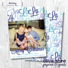 Fa La La La La - Blue  // Holiday Card