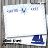 Folded Note Cards // Come Sail Away Stationery Suite
