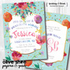 Bachelorette Bouquet // Wedding Shower Invitation