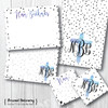 "Flat Note Cards // Dot the ""I""s and Cross My Heart Stationery Suite"