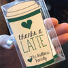 Thanks A Latte // Set of 12 // Gift Tags