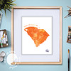 Orange Is The Happiest Color // Graphic Art Print