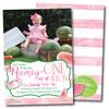 One in a Melon // Birthday Invitation