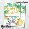 Party Animal // Birthday Invitation