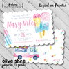 Pop In For Some Cool Fun // Birthday Invitation