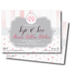 Precious Pink Sip-n-See // Baby Shower Invitation