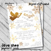Little Angel // Baby Shower Invitation