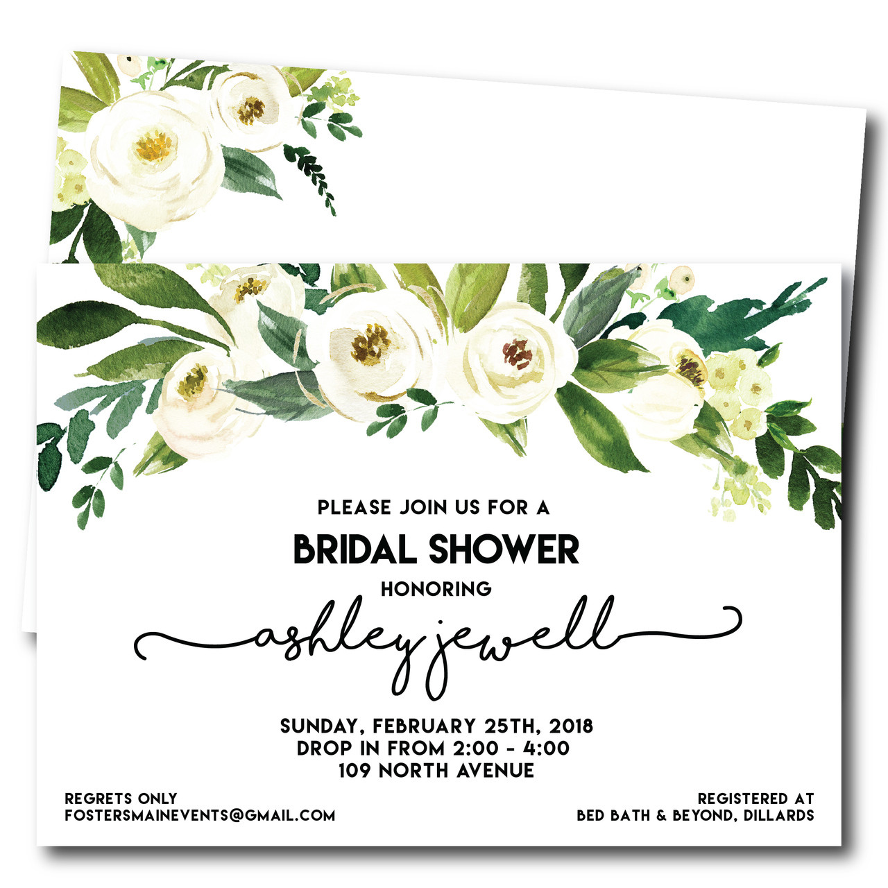 jewell of a bridal shower wedding shower invitation