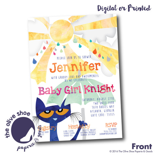 Pete the Cat  // Baby Shower Invitation