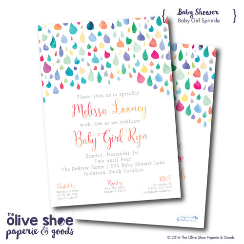 Colorful Sprinkle  // Baby Shower Invitation