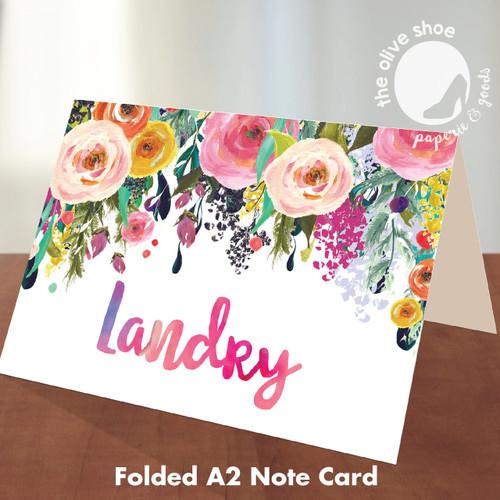 Folded Note Cards // Little Wildflower