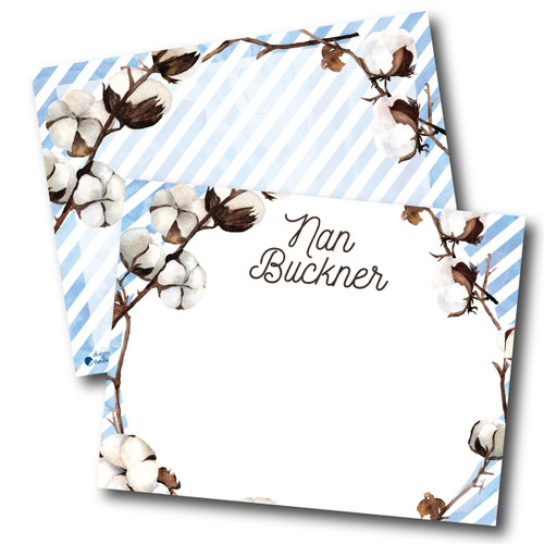 Flat Note Cards // Skipping Through Cotton Fields Stationery Suite