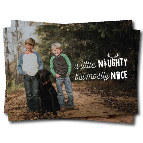 A Little Naughty But Mostly Nice  // Holiday Card